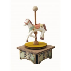 HORSE, collection music box. Collection horse music box, with a fascinating rotation of the track around its vertical axis. Thi