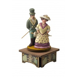 LOVERS dancing romantic music box for collection gift for wedding anniversary romantic birthday Saint Valentine's day