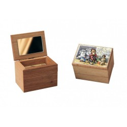 Christmas custom musical jewelry box. Wooden music box with custom decoration, dedication and melody.