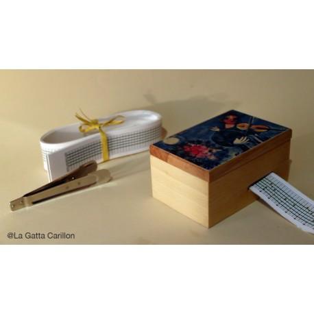 RECTANGLE MUSIC BOX, wood music box