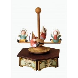 children carousel music box, wonderful article made of wood and ceramic. suitable product for both children and adults.