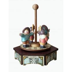 AUTO IN PIAZZA GRANDE carillon in legno elettrico e luminoso