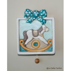 LITTLE horse wall-hanging lullaby music box for babies gift for christening, baptism or baby shower