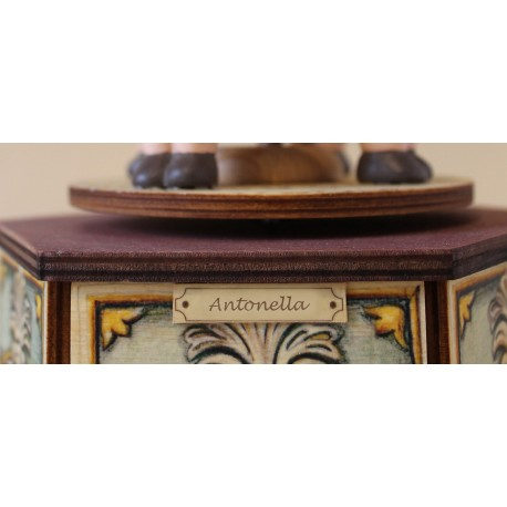 personalized music box with dedication, custom music box made in italy. Names, dates or sweet messages!