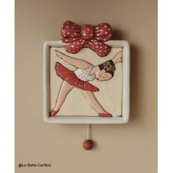 baby ballerina wall-hanging lullaby music box for babies gift for christening, baptism or baby shower
