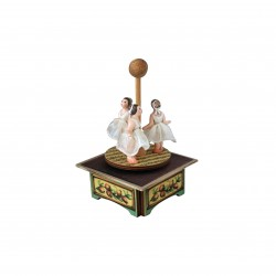 BALLERINA music box for collection. Three ballerinas dancing. Gift for babies, kids and children but also for collectors.