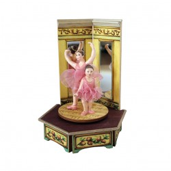 BALLERINA music box for collection. two ballerinas dancing. Gift for babies, kids and children but also for collectors.