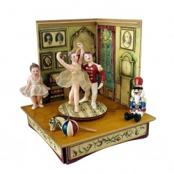 The Nutcracker musical box - Princess and Prince with Nutcracker and Claralegno