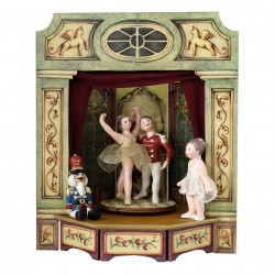 The Nutcracker musc box - Princess and Prince with Nutcracker and Clara musical box