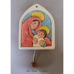 motherhood wall-hanging music box for babies gift for christening, baptism or baby shower