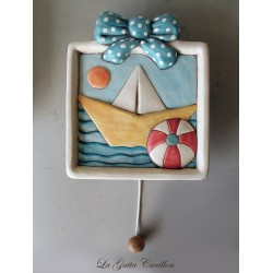 LITTLE BOAT wall-hanging lullaby music box for babies gift for christening, baptism or baby shower