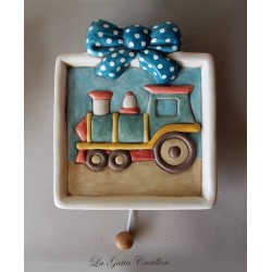 LITTLE train wall-hanging lullaby music box for babies gift for christening, baptism or baby shower