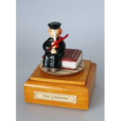 Collectable music boxes with a Lady Graduated: with rotation around the vertical axis. It is entirely executed in hand-decorated