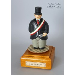 Customize caricature of a MAYOR, musical box version or the simple statue version.