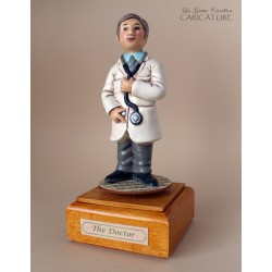 Customize caricature of a DOCTOR, musical box version or the simple statue version.