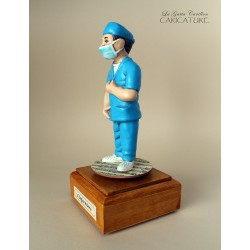 Customize caricature of a NURSE, musical box version or the simple statue version.