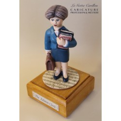 Customize caricature of a ADMIN CLERK, musical box version or the simple statue version.