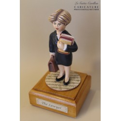 Customize caricature of a LAWYER, musical box version or the simple statue version.