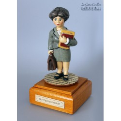 Customize caricature of a BUSINESSWOMAN, musical box version or the simple statue version.