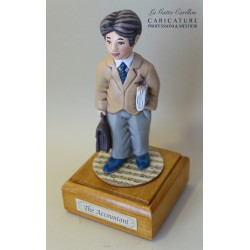 Customize caricature of a ACCOUNTANT, musical box version or the simple statue version.
