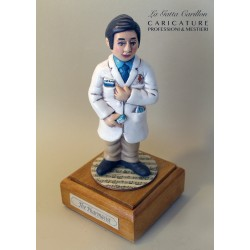 Customize caricature of a pharmacist, musical box version or the simple statue version.