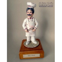Customize caricature of a CHEF, musical box version or the simple statue version.