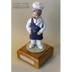 Customize caricature of a PASTRY CHEF, musical box version or the simple statue version.