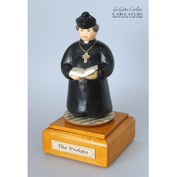 Customize caricature of a PRELATE, musical box version or the simple statue version.