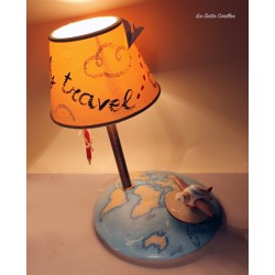 Collectible lamp musical box, with plane around the world. gift idea for boyfriends or girlfriend, anniversaries and birthdays.