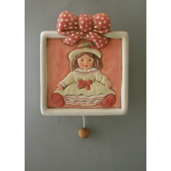 baby doll wall-hanging lullaby music box for babies gift for christening, baptism or baby shower