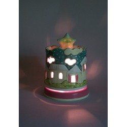 light musical box for children baby and kids, gift for christening, baptism, baby shower party or birthday
