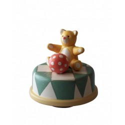 Collectible music box, with bear, handmade for children and adults for Baptism, Baby shower, birthday or a special event.