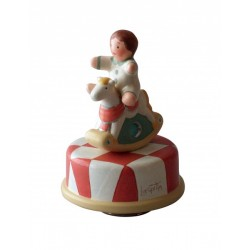 Collectible music box, with a baby boy and horse, for children and adults for Baptism, Baby shower, birthday or a special event.