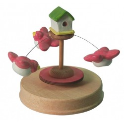 birds carousel musical box, gift for babies and children music box