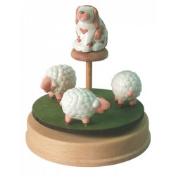 sheeps carousel musical box, gift for babies and children music box