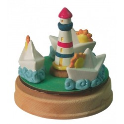 BOATS carousel musical box, gift for babies and children music box