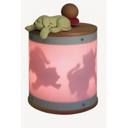 dog, light musical box for children baby and kids, gift for christening, baptism, baby shower party or birthday