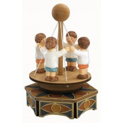 Carousel music box with four little babies. Gift for children, for Christmas, birthday or baby shower.