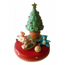 Christmas three music box, in ceramic, for collection. Children music box.