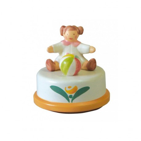 kids Baby music box for girls handmade. Children music box, gift for christening, baptism, baby shower or birthday.