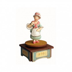 Colombina Collectible Music Boxes, characterized with fascinating rotation around the vertical axis, made by wood and ceramic,